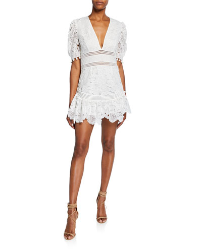 Mai Floral Lace Mini Dress
