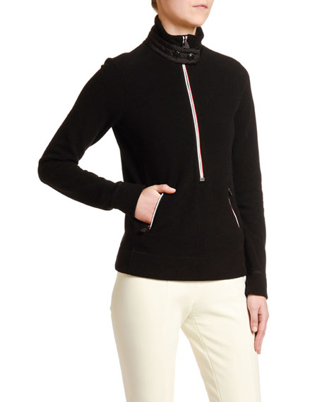 Moncler Mock Sweater w/ Zippers
