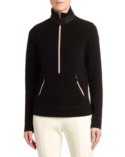 Mock Sweater w/ Zippers
