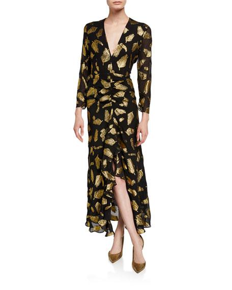 Rixo London ROSE LONG OPEN-BACK DRESS