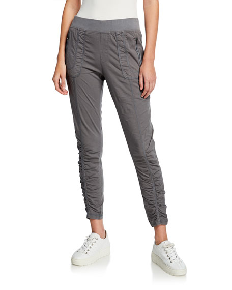 XCVI Plus Size Grassroots Ruched Crop Pull-On Pants