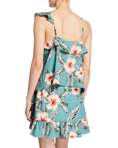 Cupcakes and Cashmere Gazelle Hibiscus-Print Cami