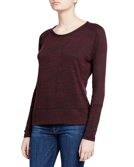 Rag & Bone Ramona Long-Sleeve Scoop-Neck Tee