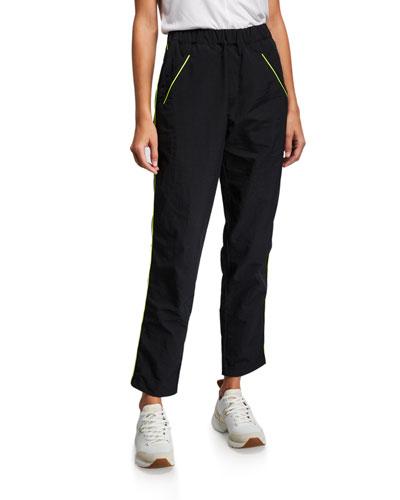 Piping Nylon Track Pants