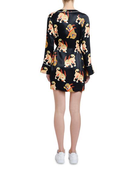 Kirin Haetae Printed Mini Pajama Dress