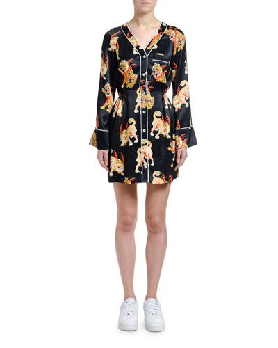 Haetae Printed Mini Pajama Dress