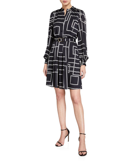 Joie Tasma Printed Shirt Dress with Belt