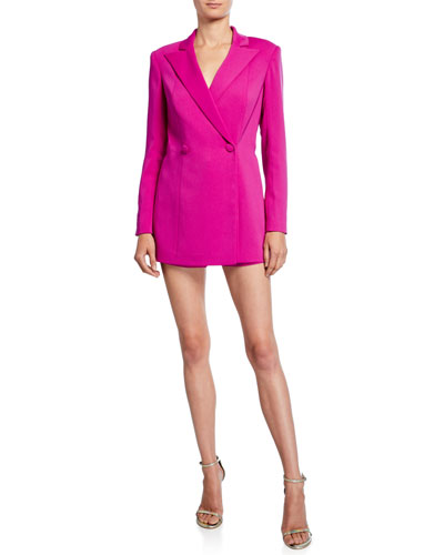 Double Breasted Long-Sleeve Coat Romper