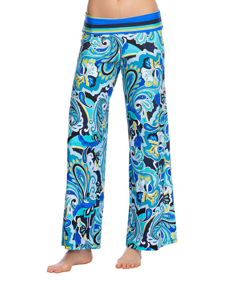 Trina Turk Ipanema Roll-Top Coverup Pants