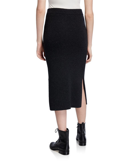 Vince Wool/Cashmere Ribbed Skirt