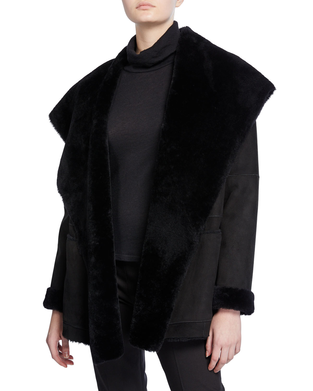 Shearling Cardigan Coat by Vince