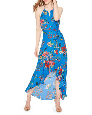 9e227eadb478e Parker Davina Floral-Print Halter Maxi Dress