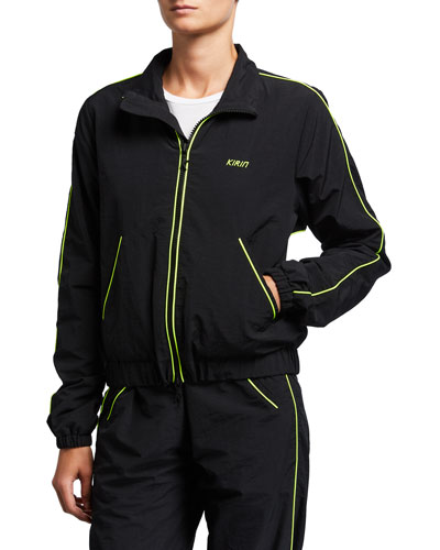 Piping Nylon Carre Track Jacket