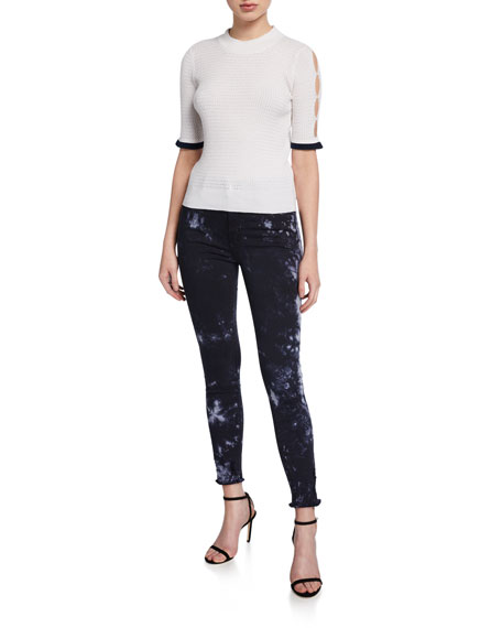 Image 3 of 3: J Brand Alana High-Rise Cropped Skinny Jeans