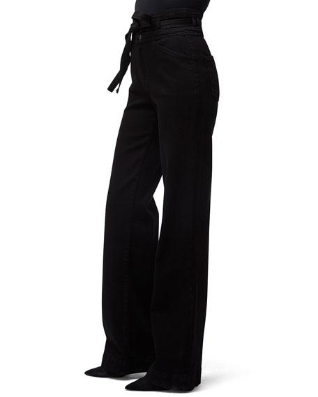 J Brand Sukey High-Rise Wide-Leg Pants