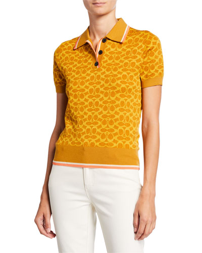 Fitted Signature C Polo Shirt