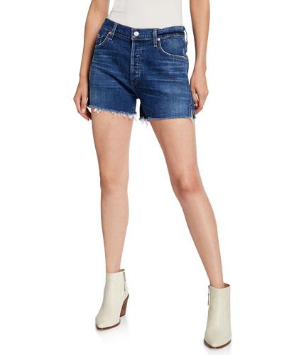 Marlow Frayed Easy Denim Shorts