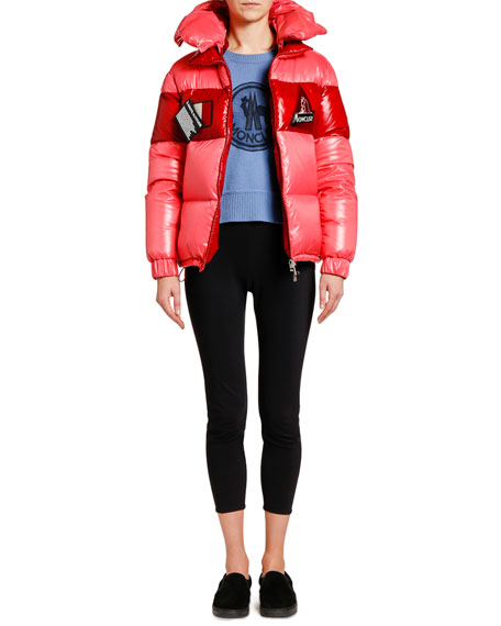 Moncler Gary Puffer Jacket w/ Patches