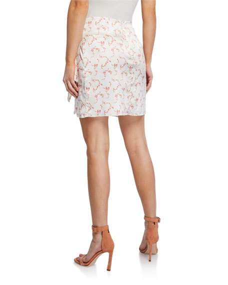 Image 2 of 3: Caroline Constas Koren Draped Floral Mini Skirt