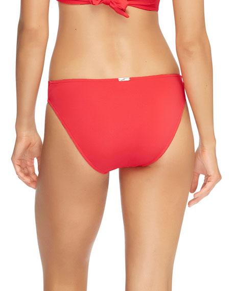 JETS by Jessika Allen Twist-Front Hipster Bikini Bottom