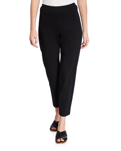 Petite Organic Stretch-Jersey Slim Ankle Pants