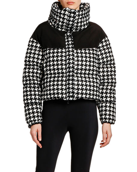 Moncler Nil Houndstooth Puffer Jacket