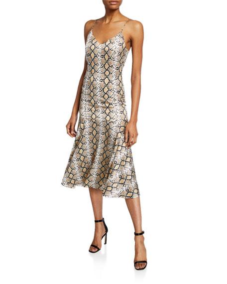 Caroline Constas Kai Python Slip Dress