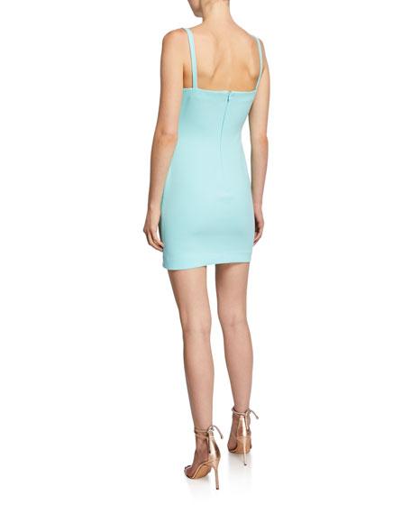 Likely Haven Square-Neck Sleeveless Asymmetric Short Dress