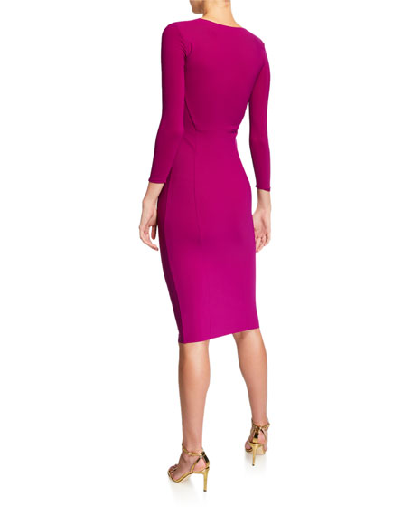 Chiara Boni La Petite Robe Sweetheart 3/4-Sleeve Dress