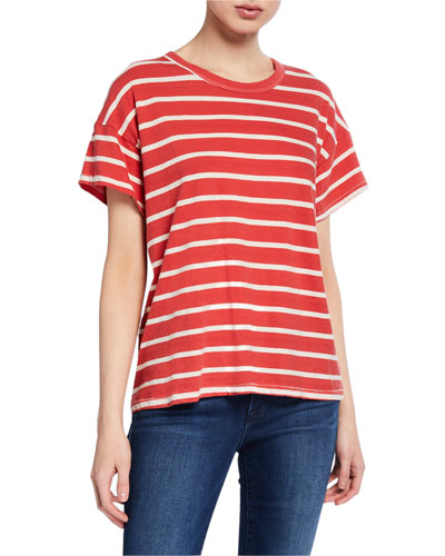 The Boxy Crew Striped Short-Sleeve Cotton Tee