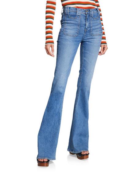 Veronica Beard Beverly High-Rise Cargo Jeans