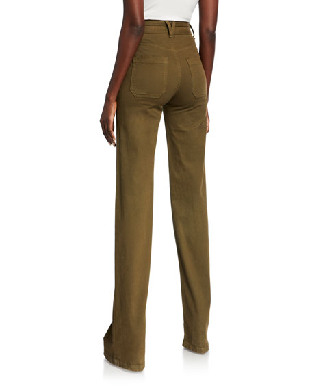 Image 2 of 2: Crosbie High-Rise Wide-Leg Jeans