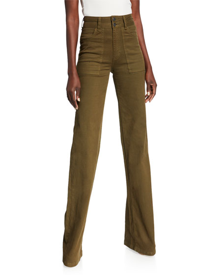 Image 1 of 2: Crosbie High-Rise Wide-Leg Jeans