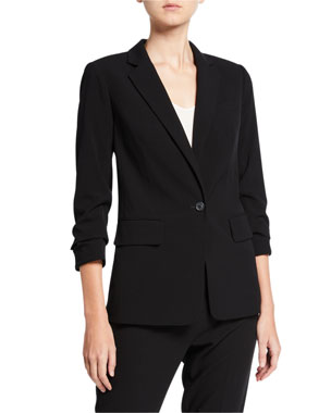 MICHAEL Michael Kors New Boyfriend 3/4-Sleeve Blazer