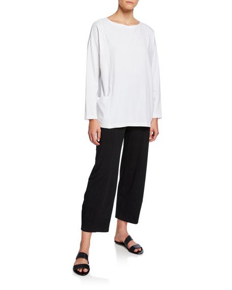 Eileen Fisher Petite Jersey Lantern Ankle Pants