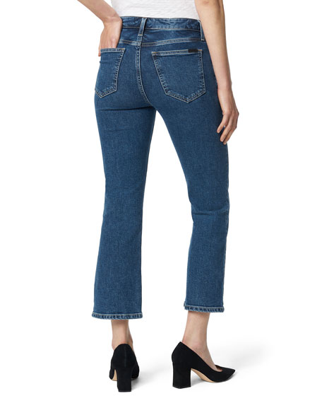 Joe's Jeans The Callie Exposed Button-Fly Cropped Boot-Cut Denim Jeans