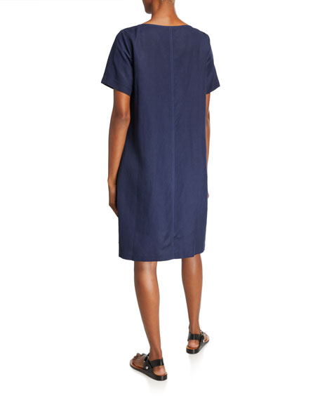 Eileen Fisher Short-Sleeve Short Dress