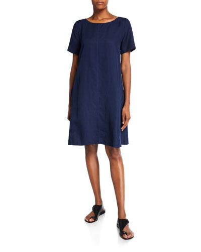 Short-Sleeve Short Dress