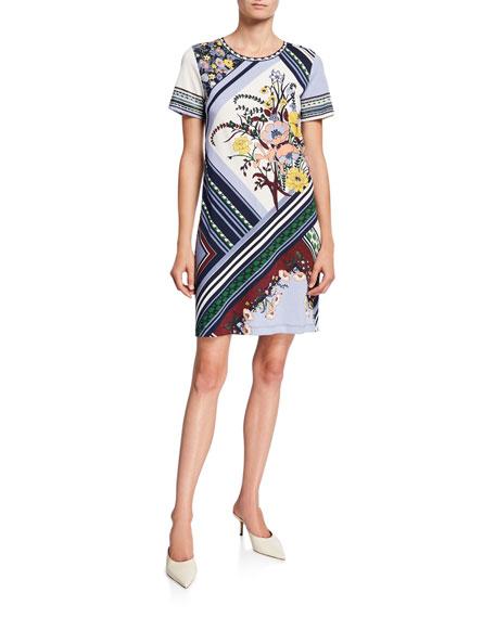 Tory Burch Flower Printed Short-Sleeve T-Shirt Dress