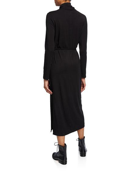Vince Long-Sleeve Turtleneck Midi Dress