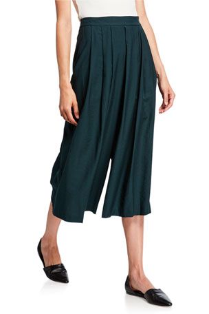 Vince Pleated Culotte Pants