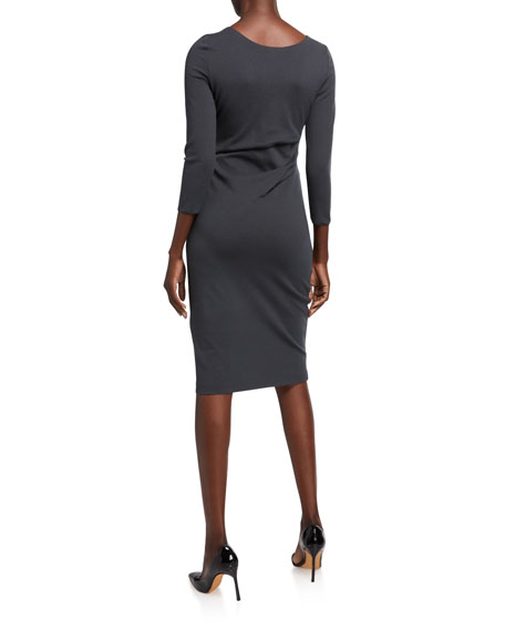 Giorgio Armani 3/4-Sleeve Jersey Dress