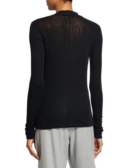 Vince Long-Sleeve Twisted Wool Turtleneck Top