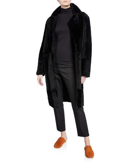 Vince Shearling Long Coat