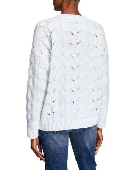 Eileen Fisher Organic Cotton Chenille Crewneck Sweater