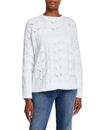 Organic Cotton Chenille Crewneck Sweater