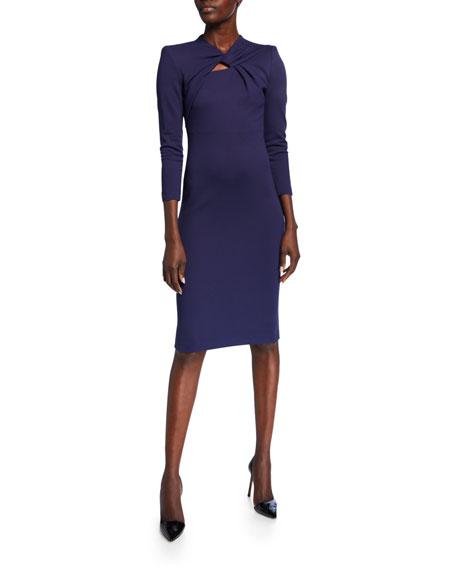 Giorgio Armani Milano Jersey Knotted-Neck Bodycon Dress