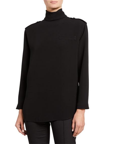 Giorgio Armani Heavy Silk Mock-Neck Tunic
