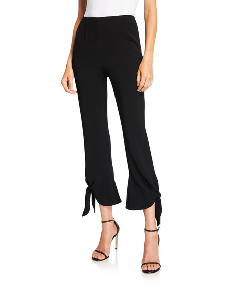 cinq a sept Nuluu Cropped Flare Pants with Ties