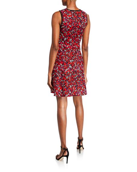 MICHAEL Michael Kors Leaf Jacquard Sleeveless Dress